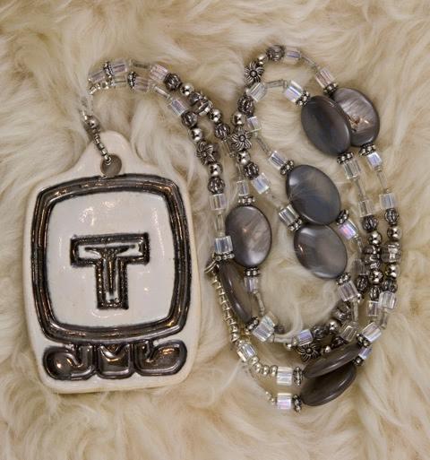 Beaded Pendant - Silver